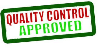 Quality control approved. Stamp with text quality control approved inside,  illustration Royalty Free Stock Photo