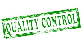 Quality control. Stamp with text quality control inside,  illustration Stock Photos