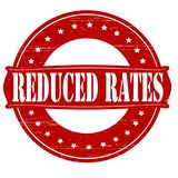 Reduced rates. Stamp with text reduced rates inside, illustration royalty free illustration