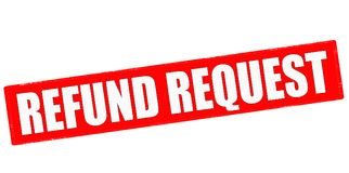 Refund request. Stamp with text refund request inside,  illustration Stock Photos