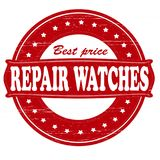 Repair watches. Stamp with text repair watches inside,  illustration Royalty Free Stock Images