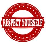 Respect yourself. Stamp with text respect yourself inside,  illustration Stock Photos