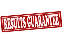 Results guarantee. Stamp with text results guarantee inside,  illustration Stock Photography