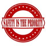 Safety is the priority. Stamp with text safety is the priority inside,  illustration Stock Photo