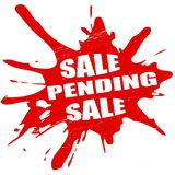 Sale pending. Stamp with text sale pending inside,  illustration Stock Photography