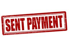 Sent payment. Stamp with text sent payment inside,  illustration Stock Image