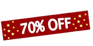 Seventy percent off Stock Image