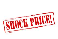 Shock price. Stamp with text shock price inside,  illustration Royalty Free Stock Photography
