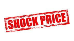 Shock price. Stamp with text shock price inside,  illustration Royalty Free Stock Image
