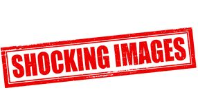 Shocking images. Stamp with text shocking images inside,  illustration Royalty Free Stock Photography