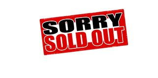 Sorry sold out. Stamp with text sorry sold out inside,  illustration Stock Images