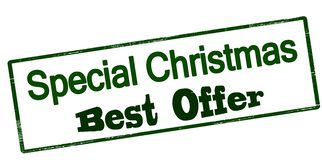 Special Christmas best offer. Stamp with text special Christmas best offer inside,  illustration Stock Image