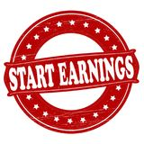 Start earnings. Stamp with text Start earnings inside,  illustration Royalty Free Stock Photography