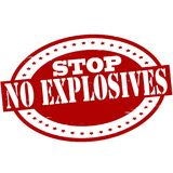 Stop no explosives. Stamp with text stop no explosives inside,  illustration Stock Image