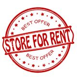 Store for rent. Stamp with text store for rent inside, illustration Royalty Free Stock Photography