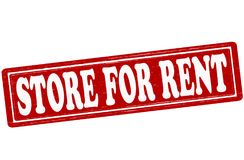 Store for rent. Stamp with text store for rent inside,  ilustration Royalty Free Stock Images