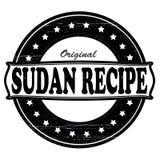 Sudan recipe. Stamp with text Sudan recipe inside, illustration Stock Image