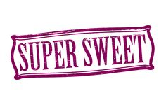 Super sweet. Stamp with text super sweet inside,  illustration Stock Photos