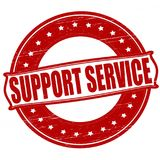 Support service. Stamp with text support service inside,  ilustration Royalty Free Stock Images