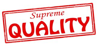 Supreme quality. Stamp with text supreme quality inside,  illustration Royalty Free Stock Photos