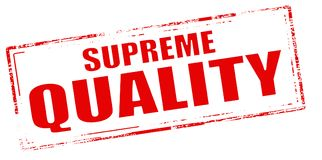 Supreme quality. Stamp with text supreme quality inside, vector illustration Stock Photography