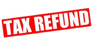 Tax refund. Stamp with text tax refund inside, illustration stock image
