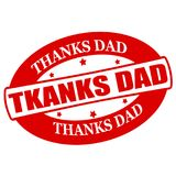 Thanks dad. Stamp with text thanks dad inside,  illustration Stock Images