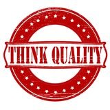 Think quality. Stamp with text think quality inside,  illustration Royalty Free Stock Photos