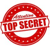 Top secret. Stamp with text top secret inside,  illustration Royalty Free Stock Photography
