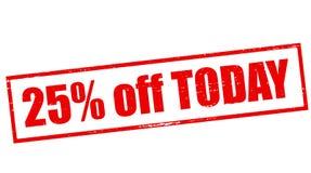 Twenty five percent off today Royalty Free Stock Photo