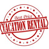 Vacation rental. Stamp with text vacation rental inside,  illustration Royalty Free Stock Images
