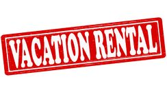 Vacation rental. Stamp with text vacation rental inside,  illustration Royalty Free Stock Photos
