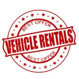 Vehicle rentals. Stamp with text vehicle rentals inside, illustration Stock Photos