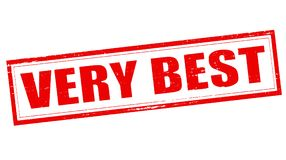 Very best. Stamp with text very best inside,  illustration Stock Photos