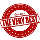 The very best. Stamp with text the very best inside, ilustration stock illustration