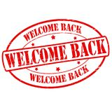 Welcome back. Stamp with text welcome back inside,  illustration Royalty Free Stock Photo
