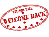 Welcome back. Stamp with text welcome back inside,  illustration Stock Photography