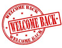 Welcome back. Stamp with text welcome back inside,  illustration Stock Photo