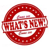 What new. Stamp with text what new inside,  illustration Royalty Free Stock Photos