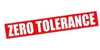 Zero tolerance. Stamp with text zero tolerance inside, illustration vector illustration