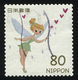 Stamp Tinker Bell. RUSSIA KALININGRAD, 22 APRIL 2016: stamp printed by Japan, shows Tinker Bell, circa 2011 Stock Photos