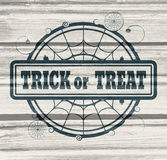 Stamp with Trick or Treat text Royalty Free Stock Photography