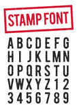 Stamp typeface Stock Images