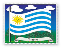 Stamp Uruguay Royalty Free Stock Images
