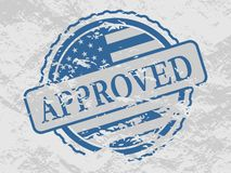 Stamp with US flag. Royalty Free Stock Images
