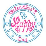 Stamp Valentines Day Royalty Free Stock Images