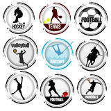 Stamp of various sports Stock Image
