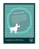Stamp Vector with Bull Terrier Stock Image