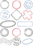 Stamp vector illustration set Royalty Free Stock Images
