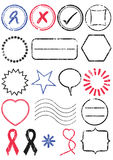Stamp vector illustration set Royalty Free Stock Photography